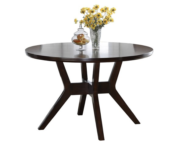 Crown Mark Barney Brown Round Dining Table CRW-2322T-48