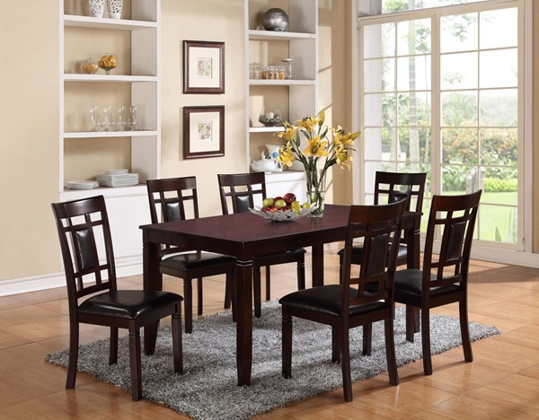 Crown Mark Paige Dark Brown 7pc Dining Room Set CRW-2325SET