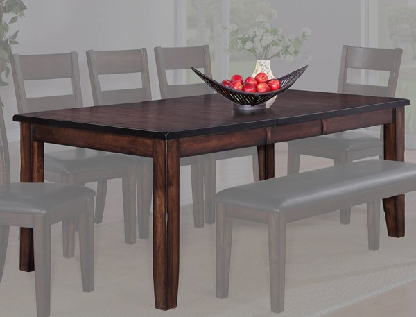 Crown Mark Maldives Brown Dining Table CRW-2360T-4278