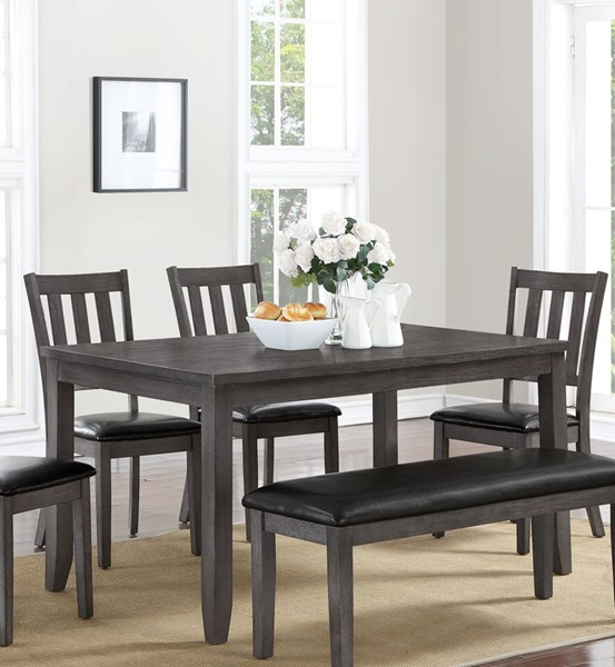 Crown Mark Michael Grey Dining Table CRW-2361T-3660-GY