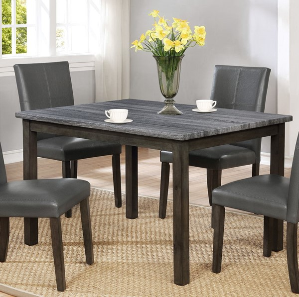 Crown Mark Pompei Grey Dining Table CRW-2377GY-T-3648