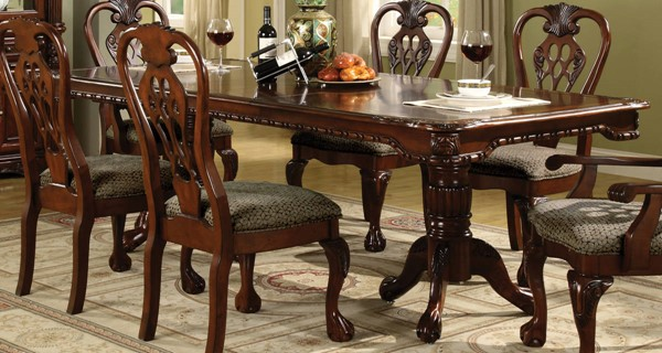 Crown Mark Brussels Rich Cherry Dining Table CRW-2470T-4296