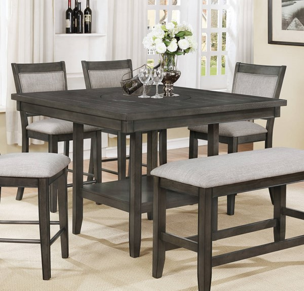 Crown Mark Fulton Grey Counter Height Table The Classy Home
