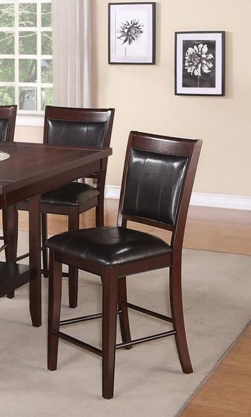 2 Crown Mark Fulton Espresso Counter Height Chairs CRW-2727S-24-V