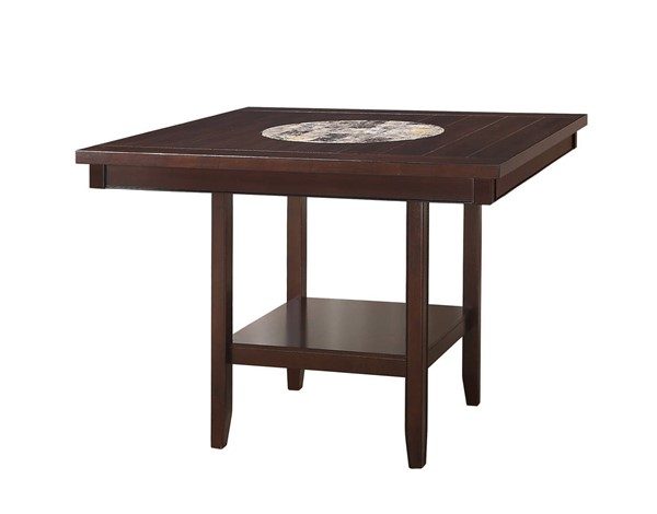 Crown Mark Fulton Espresso Counter Height Table CRW-2727T-4848-V