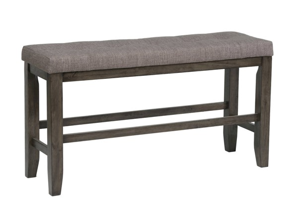 Crown Mark Bardstown Grey Counter Height Bench CRW-2752GY-BENCH