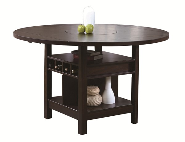 Crown Mark Conner Espresso Counter Height Table CRW-2849T-6060-CT