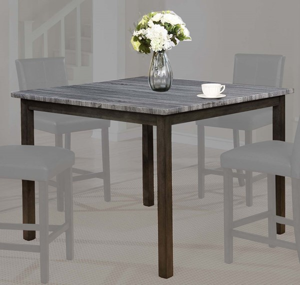 Crown Mark Pompei Grey Top Counter Height Table CRW-2877GY-T-4848