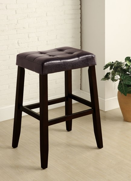 2 Crown Mark Kent Espresso 29 Inch Saddle Stools CRW-2987C-29-ESP