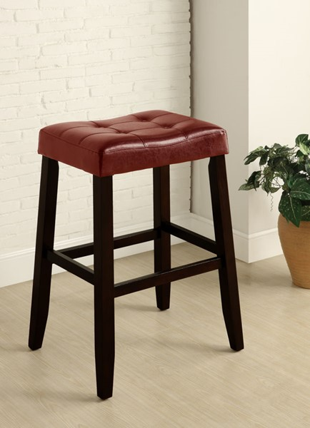 2 Crown Mark Kent Red 29 Inch Saddle Stools CRW-2987C-29-RD