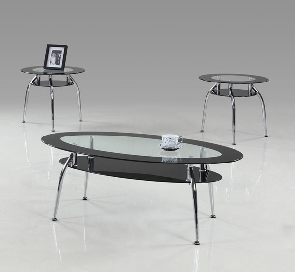 Crown Mark Mila 3pc Coffee Table Sets CRW-3270-BASE-OCT-S1