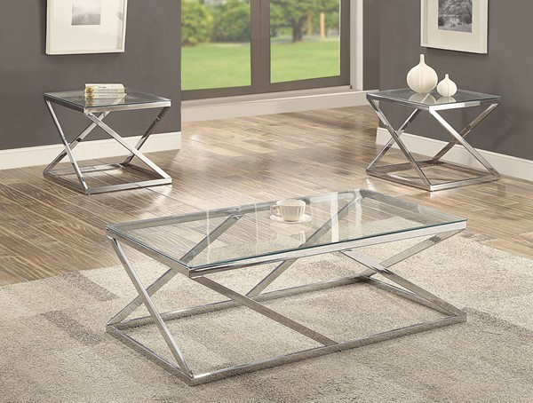 Crown Mark Chase 3pc Coffee Table Sets CRW-3272-OCT-S1