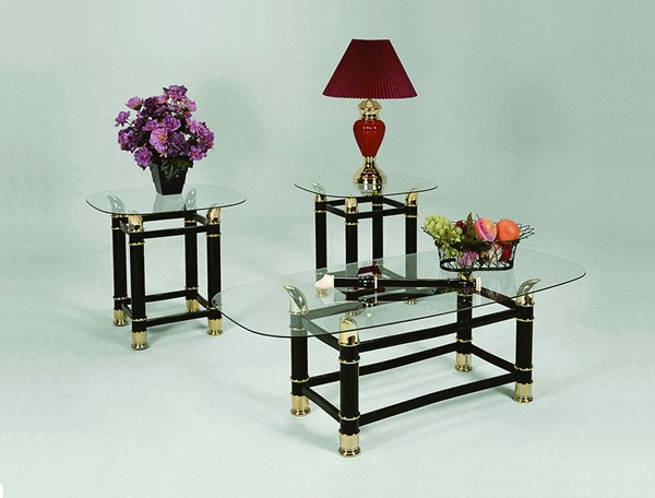Crown Mark Horn 3pc Coffee Table Sets CRW-3606-OCT-S