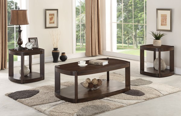 Crown Mark Gabby 3pc Coffee Table Set with Caster CRW-4006SET