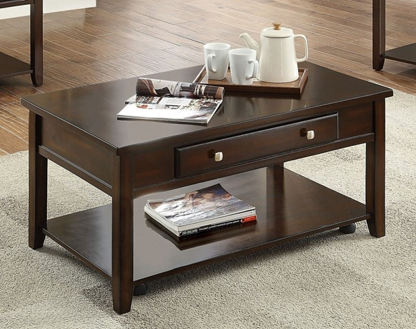 Crown Mark Julian Lift Top Coffee Table with Casters CRW-4113-01