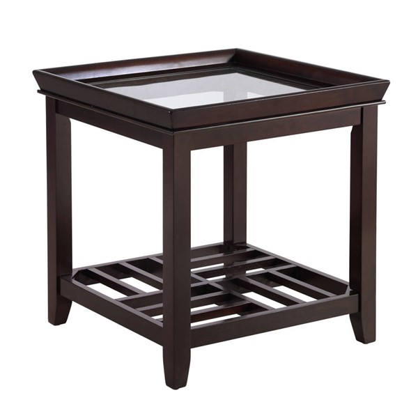 Crown Mark Connick Brown End Table CRW-4204-02