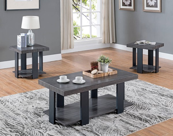 Crown Mark Randy Grey 3pc Occasional Table Set CRW-4229SET