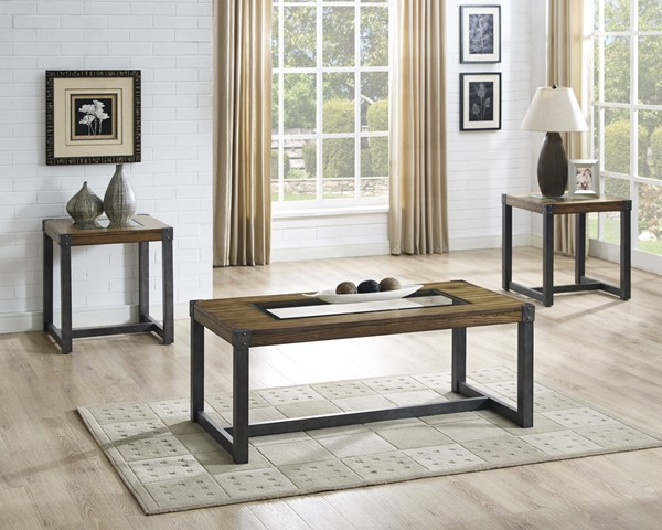 Crown Mark Christopher 3pc Coffee Table Sets CRW-4236SET