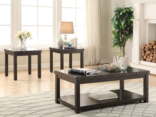 Crown Mark Elton 3pc Coffee Table Set with Caster CRW-4241SET