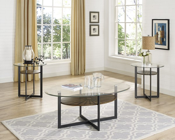 Crown Mark Novak 3pc Coffee Table Sets CRW-4246-OCT-S1