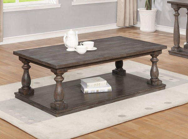 Crown Mark Regent Antique Grey Coffee Table CRW-4270-01