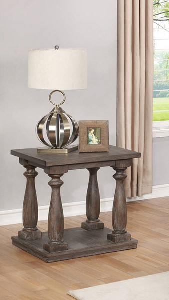 Crown Mark Regent Antique Grey End Table CRW-4270-02