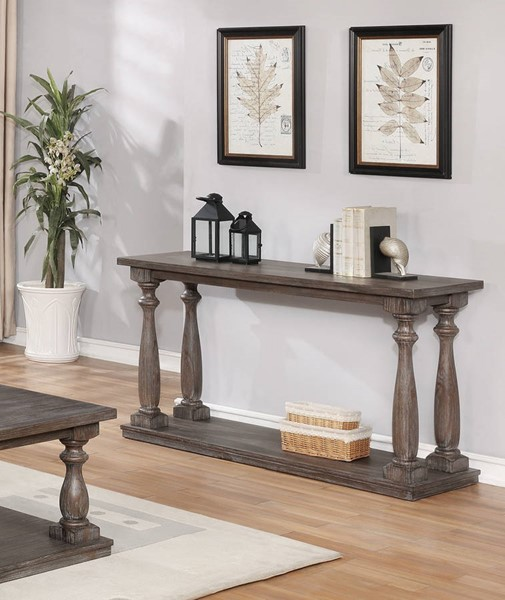 Crown Mark Regent Antique Grey Sofa Table CRW-4270-05