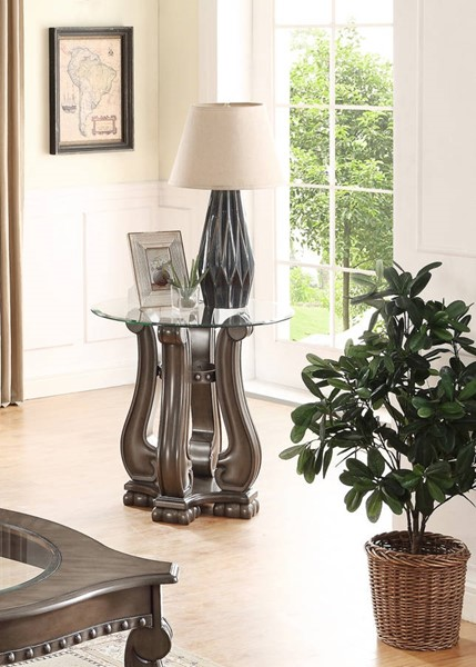 Crown Mark Madison Mistic Grey End Table CRW-4320GY-02