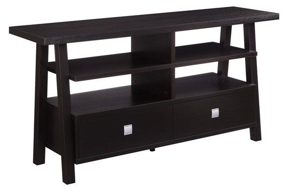 Crown Mark Jarvis Espresso Assembled Drawers TV Stand CRW-4808-ESP