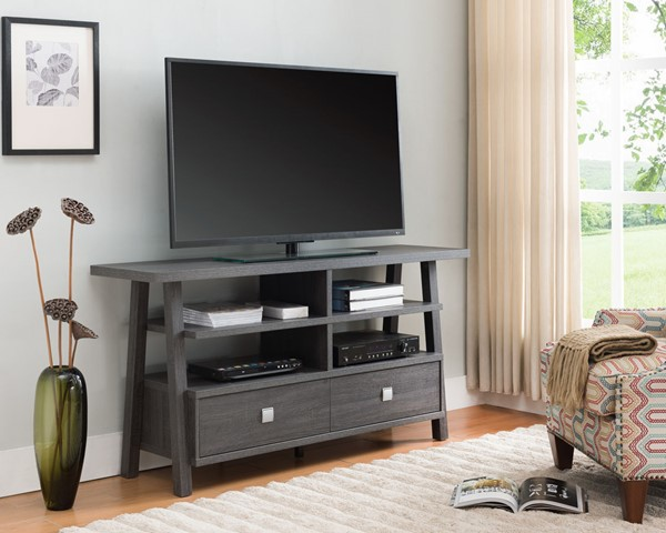 Crown Mark Jarvis Grey Drawers TV Stand CRW-4808-GY
