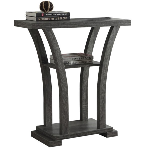 Crown Mark Draper Grey Console Table CRW-4906-GY