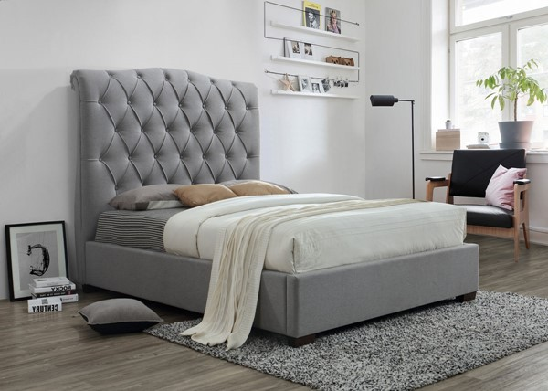 Crown Mark Janice Grey Bed CRW-5101-BED-VAR