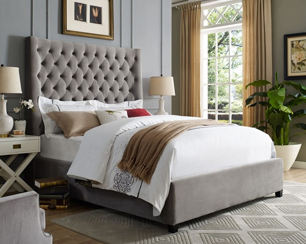 Crown Mark Aster Grey Queen Bed The Classy Home