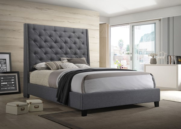Crown Mark Chantilly Grey Beds CRW-5265GY-BED-VAR
