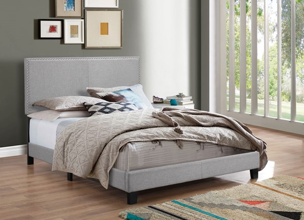 Crown Mark Erin Grey Twin Panel Bed CRW-5271GY-T-NH