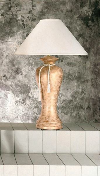 4 Crown Mark Ivory Marble Tassel Table Lamps CRW-6119-IV