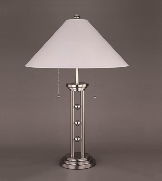 2 Crown Mark Magnum White Chrome Table Lamps CRW-6231T-2