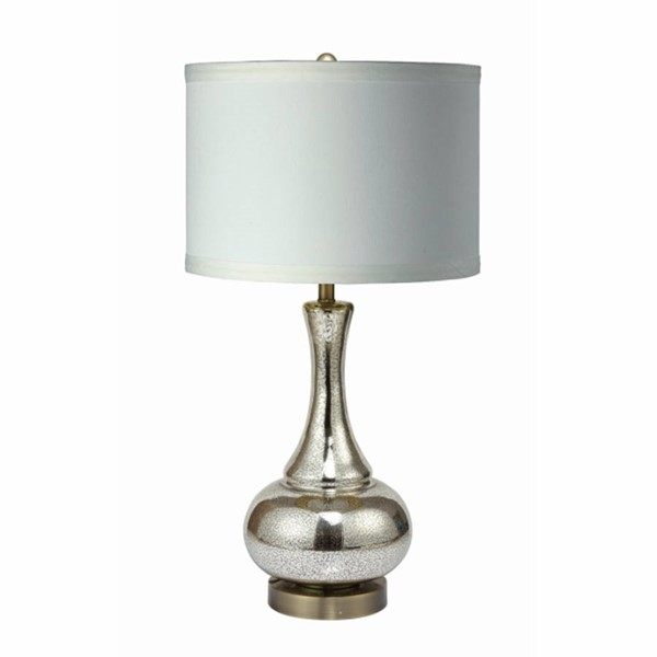 Crown Mark Gold Urn Lamp with White Shade CRW-Z-6233T-WH
