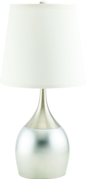 2 Crown Mark Silver Table Touch Lamps CRW-6238T-SN-2