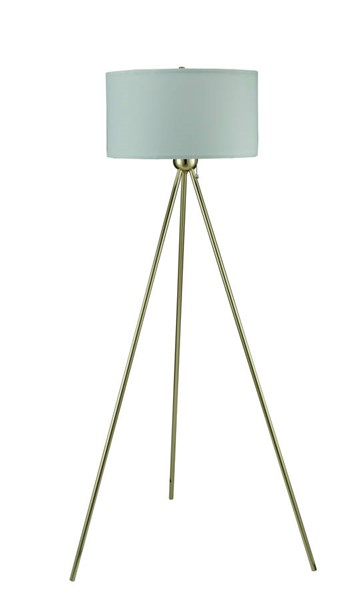 Crown Mark Gold Floor Lamp with White Shade CRW-6251F-GD