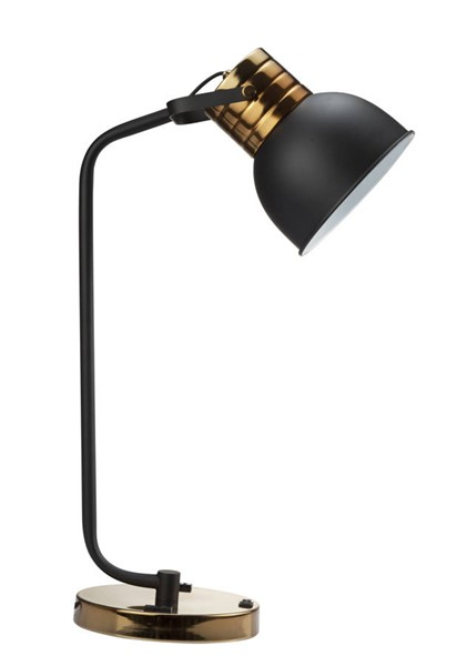 2 Crown Mark Gold Black 24.5 Inch Height Table Lamps CRW-6253T