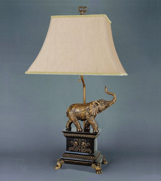 4 Crown Mark Elephant 29 Height Table Lamps CRW-6268T