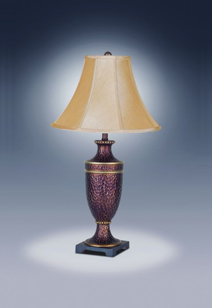 2 Crown Mark Hammered Bell Shade Lamps CRW-6285T-2