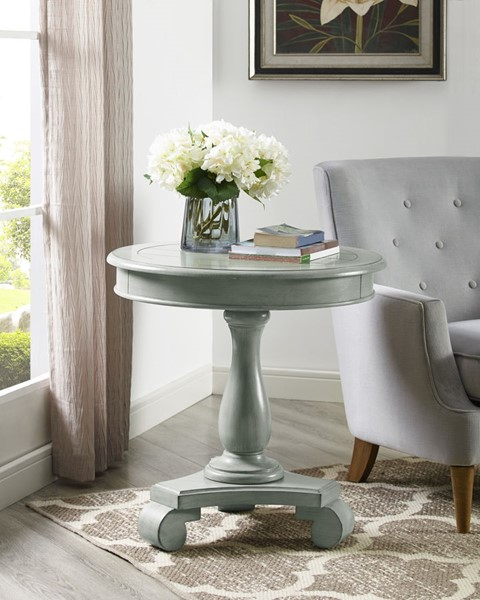 Crown Mark Constance Grey Round End Table CRW-7167-GY