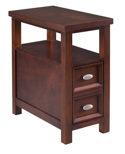 Crown Mark Dempsey Brown Chairside Table CRW-7204