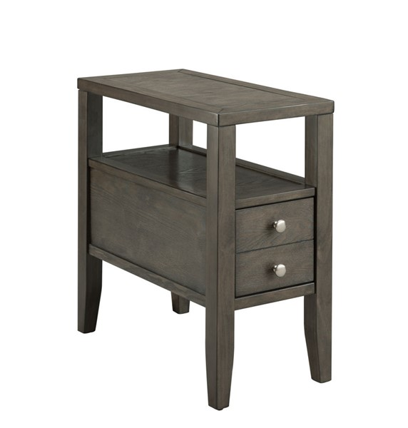 Crown Mark Matthew Grey Chairside Table CRW-7708-GY