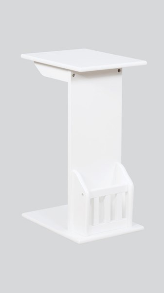 Crown Mark Barnet White Chairside Table CRW-7904-WH