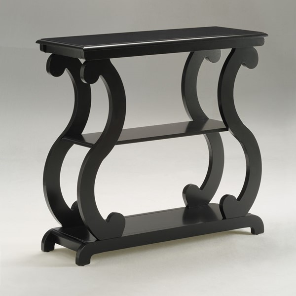 Crown Mark Lucy Black Console Table CRW-7915-BK