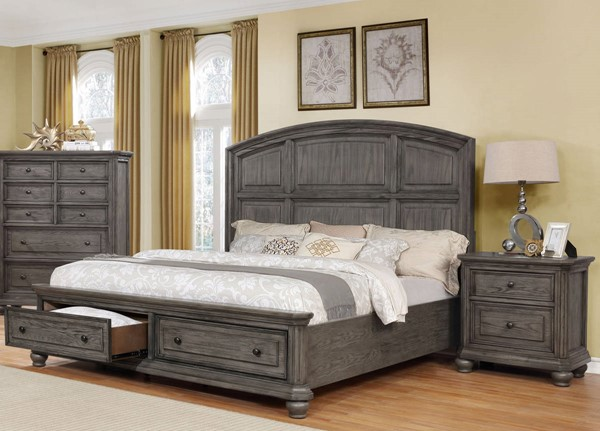 Crown Mark Lavonia 2pc Bedroom Set with Queen Storage Bed CRW-B1880-BR-S2