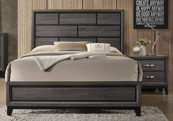 Crown Mark Akerson Grey 2pc Bedroom Set with Twin Bed CRW-B4620-T-BR-S2